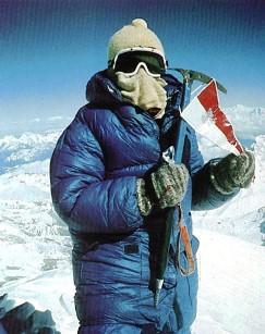 Wanda rukiewticz en el Everest